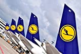 Digitaldruck / Poster Hady Khandani - LUFTHANSA AIRBUS A380-800 TAIL PARADE 2 - 179 x 120cm - Premiumqualität - MADE IN GERMANY - ART-GALERIE-SHOPde
