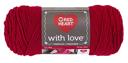 Red Heart with Love strapazierfähig Solid - Holly Berry Holly Berry