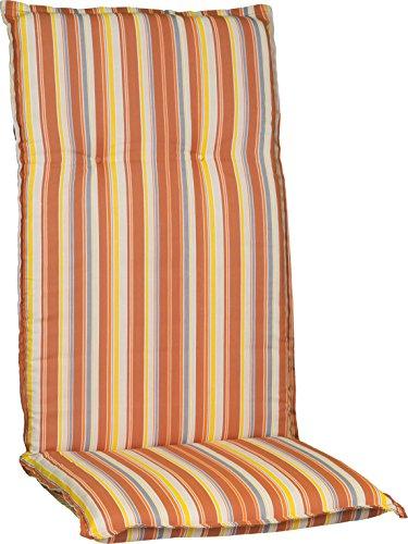 Beo Gartenstuhlauflage Polster für Hochlehner Feine Orange Streifen mediterraner Look