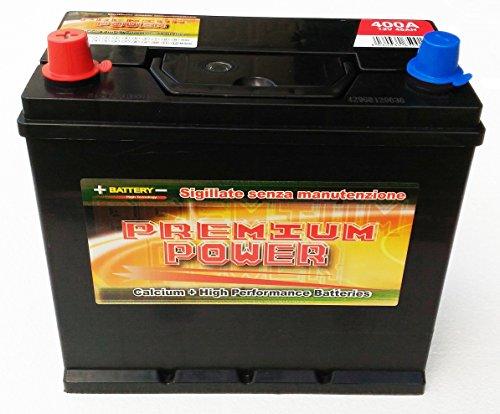 Batteria Auto 45 Ah x CINQUE100 L,R,D,F D'EPOCA,etc.(spunto 400 A, 30% in più) (sx)