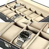 12 Watch Display Box Case Faux Leather Bild 5