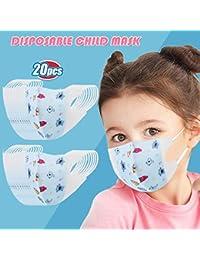 Las Rebajas 50 Unidades de Niños Bebé 0-12 Años Protección Facial con Estampado de Duende Azul Aire Libre (Duende azul*20, 4-12 años)