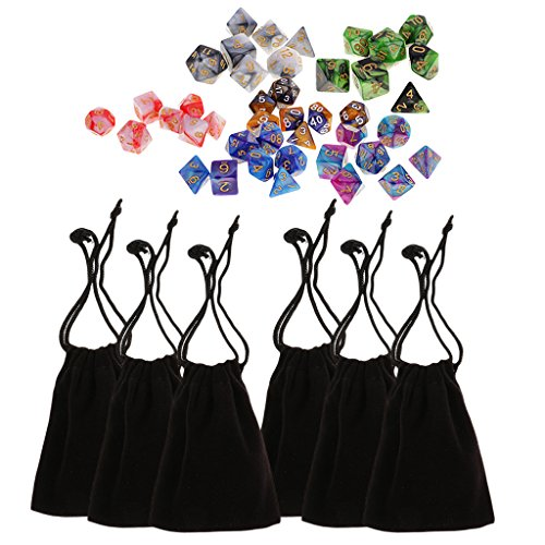 MagiDeal 42 pieces Polyhedral Dice Two Colors 16mm for Dungeons and Dragons Table Games High quality