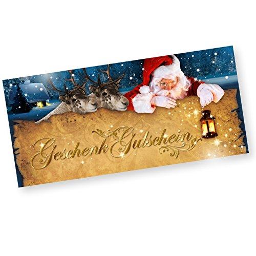 Geschenkgutscheine Nordpol Set für Weihnachten