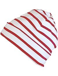 Modas bretonische Rollmütze, Größe:4, Farbe:weiß/rot