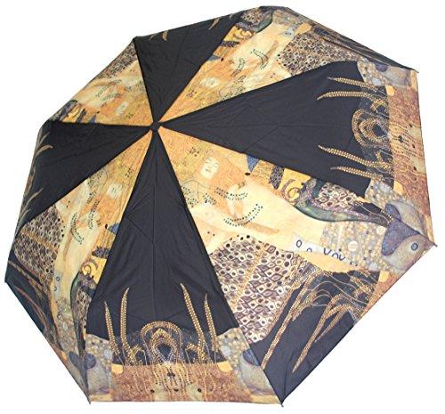 doppler Regenschirm Taschenschirm Gustav Klimt Wasserschlangen Art Collection Auf-Zu Automatik (Regenschirm Gustav Klimt)