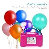 Amzdeal® Pompa elettronica per gonfiaggio palloncini. Ideale per feste e cerimonie Potenza motore 600W