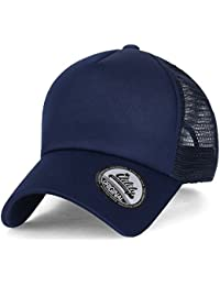 ililily Baseballkappe: einfarbige Baseball Cap, einfache Netzkappe, Snapback in unterschiedlichen Farben, Truckerkappe, Hut