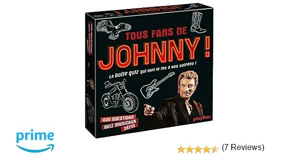 Amazon.fr - Coffret quiz Johnny Hallyday: La boîte de jeu qui va allumer le feu! - Play Bac - Livres