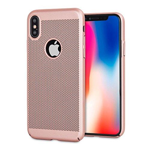 Olixar iPhone X Wärmeableitung Hülle Meshtex (Rose Gold)