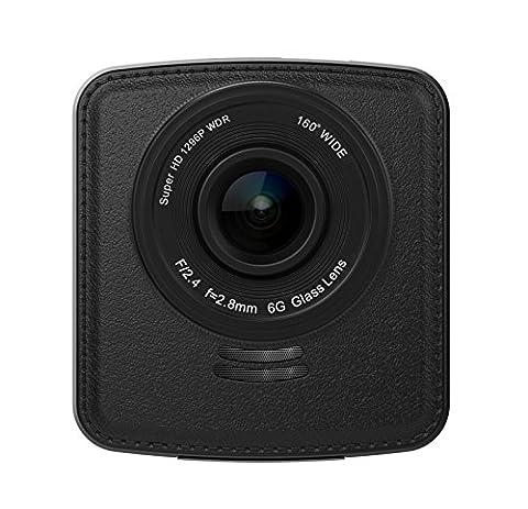 koonlung C81Mini tableau de bord 1080p voiture DVR Caméscope 160° Large Angle de vue 6,1cm Écran accéléromètre Hdr Vision nocturne sans en GPS intégré et une carte mémoire 32Go. Ambarella a7l70