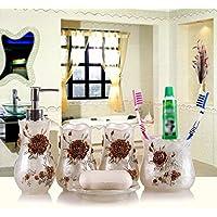 XXN-Continental wedding prodotti da bagno soap box portaspazzolini imposta-suite bagno WC tazza,Bianco