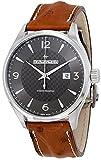 Orologio da uomo automatico in pelle Hamilton Jazzmaster Viewmatic H32755851