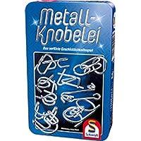 Schmidt-Spiele-51206-Metall-Knobelei-in-schner-Metalldose Schmidt Spiele 51206 Metall Knobelei Duell, Bring micht mit Spiel in der Metalldose, blau -