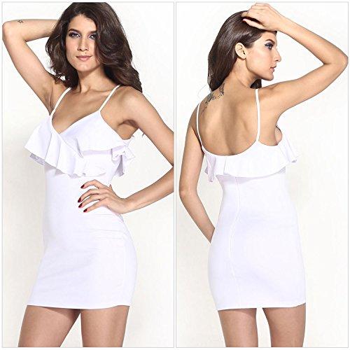 Lemandy - Robe - Sans Manche - Femme Blanc - Blanc