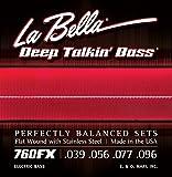 Labella 760FX Jeu de Cordes pour Basse 39/96 Flat Wound