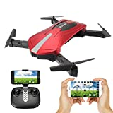 Foldable Drone With Camera, EACHINE E52 WIFI FPV Quadcopter Drone for kids with Altitude Hold Mode, One Key Take off Landing, 3D Flips and Headless Mode Steady Easy Fly RC Helicopter for Beginner RTF from Aeiolw