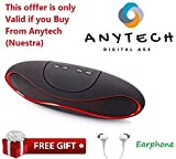 #6: AnyTech™ Portable Wireless Bluetooth Rugby Style Mobile/Tablet Speaker (colour may vary)patern#66