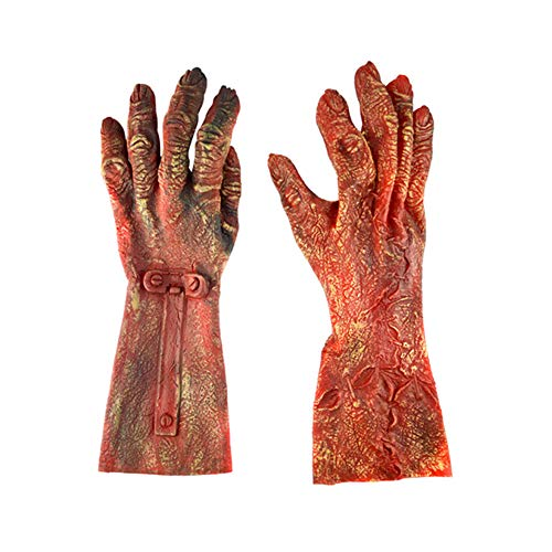 Cosanter Cosplay Halloween Guantes Zombie Guantes