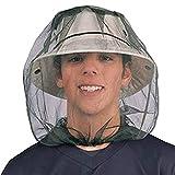 MUXItrade Mosquito Head net, Rete Protettiva Anti-zanzare, Insetto capo rete netta,Rete di copertura maschera anti-mosquito Bee Bug, faccia Protezione Outdoor attrezzature da pesca (Nero)