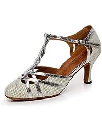 Amazon.es  zapatos baile latino suela cuero - Ballet   Zapatos ... 5169444dc558