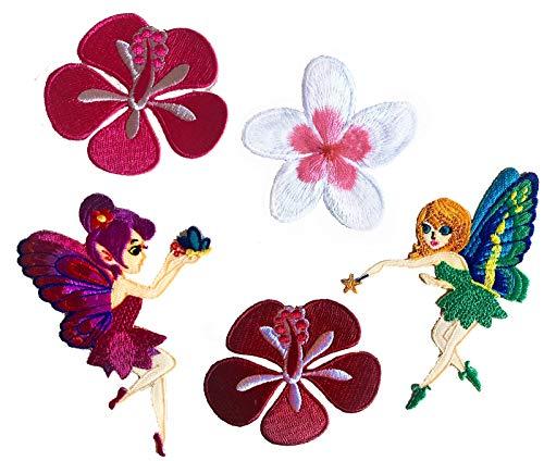 i-Patch - Patches - 0183 - Elfe - Fee - Rosen - Blumen - Applikation - Aufbügler - Flicken - Aufnäher - Sticker - Badge - Bügelbild - zum aufbügeln - Mädchen - Jungen - Kinder