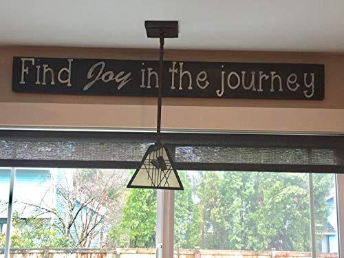 Wood Plaque Holzschild Find Joy in The Journey, Bauernhaus-Dekoration, französisches Landhaus-Motiv, groß -