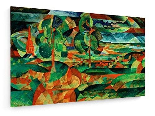 Paul Adolf Seehaus - Blick in Ebene - 80x50 cm - Textil-Leinwandbild auf Keilrahmen - Wand-Bild - Kunst, Gemälde, Foto, Bild auf Leinwand - Alte Meister/Museum