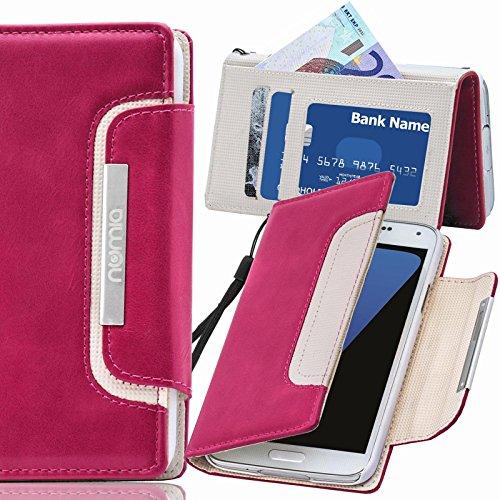 Original Numia Design Luxus Bookstyle Handy Tasche LG E610 Optimus L5 Pink Weiss Handy Flip Style Case Cover Gehäuse Etui Bag Schutz Hülle NEU