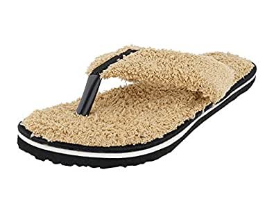 Travelkhushi Grass Terry Flip-Flops for Women- Memory Foam Flip-Flops & House Slippers at amazon