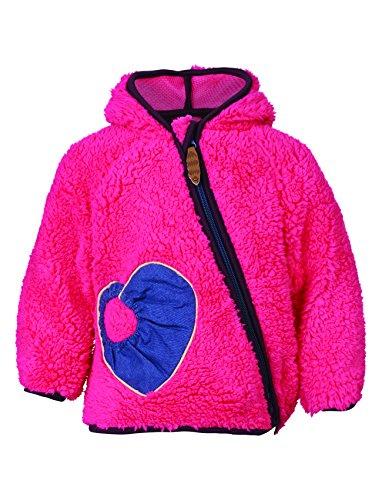 Racoon Mädchen VALBORG BABY TEDDY Kuschelfleecejacke Jacke, Rosa (Fandango FAN), 98 Jacken Fan