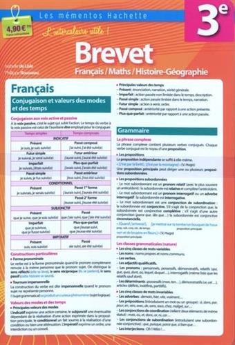 Français/Math/Histoire-Géographie 3e, Brevet