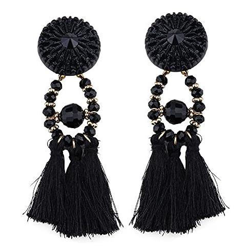 XY Fancy Damen retro Handgemachte Kristall große Troddel Ohrringe, böhmische Strass Ohrring
