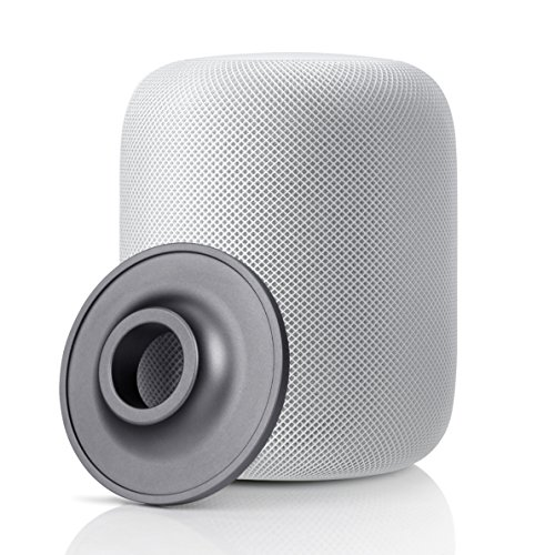 YuStar - Soporte para Altavoz de Apple HomePod, Acero Inoxidable, Antideslizante, Base...