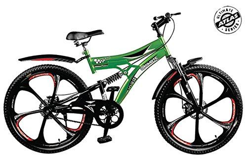 atlas torpedo d/shox and dual disc brake 26t mountain cycle(green/red) Atlas Torpedo D/Shox and Dual Disc Brake 26T Mountain Cycle(Green/Red) 51BwubZFc1L