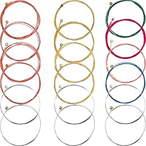2 Sets of 6 Guitar Strings Replacement Steel String for Acoustic Guitar