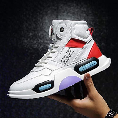 JIAODANBO Super Fire Shoes High-Top Shoes Hip Hop Scarpe Con La Suola Spessa Tide Uomo Scarpe Sportive Casual