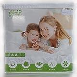 Umweltschutz Atmungsaktiv Wasserdicht Mite resistent Reine Baumwolle Soft Tagesdecke Schutzhülle , blue , 2*2.3m (fitted)