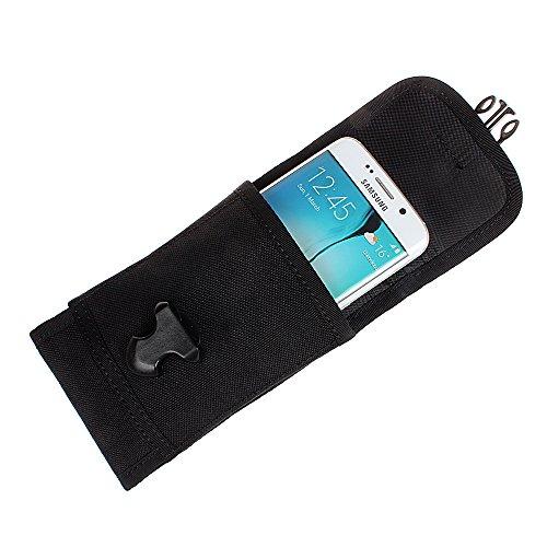 xhorizon(TM)MW8 1000D NylonArmee Camo TouchDienstTactical MOLLE UniversalMultifunktionsgürteltasche Holster für Multi Handy Modell #B5 Schwarz