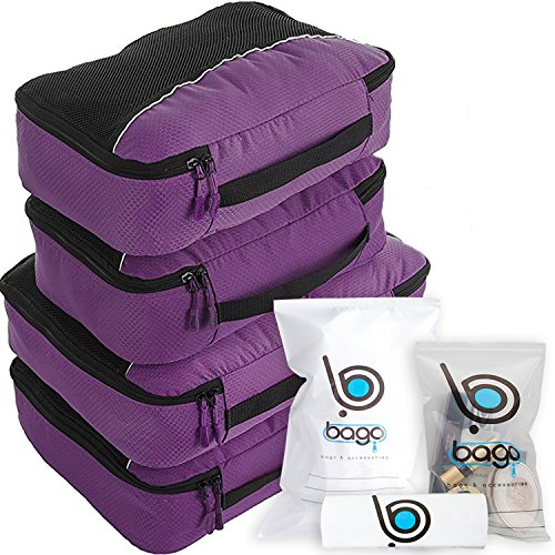 Cubos Embalaje valor establecido para viajes - 4 Organizador con docum