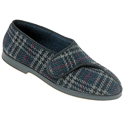 Scacchi Checkered 7 Lined 9 Gbs Size Textile 10 6 Fastened Touch 8 Slippers Mens 11 fqwg6Ypw