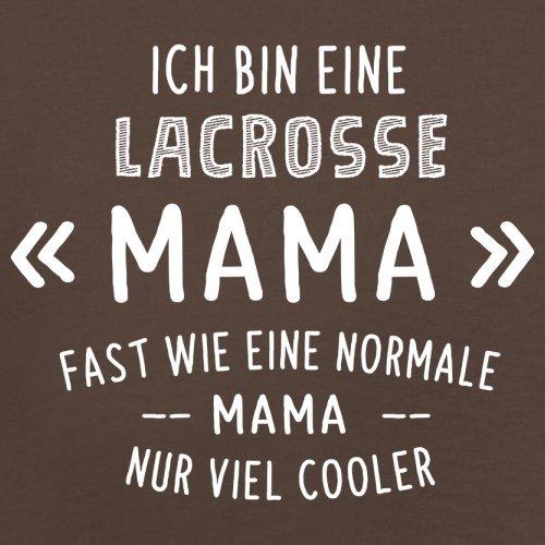 Ich bin eine Lacrosse Mama - Herren T-Shirt - 13 Farben Schokobraun