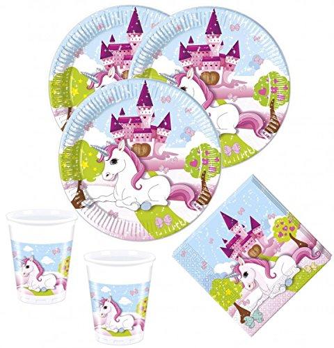 36 Teile kleines Einhorn Party Deko Set für 8 Kinder