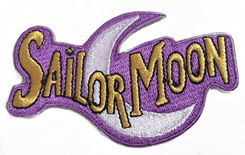 Premier Patches Sailor Moon Logo Aufnäher 10 cm Bestickt Aufbügler Aufnäher Kostüm Magic Retro Cosplay DIY Motiv Sammlerstück Kostüm Retro Souvenir (Anime Kostüme Diy)