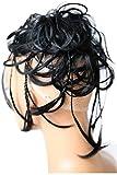 PRETTYSHOP XXL Postiche Cheveux En Caoutchouc Chouchou Chignons VOLUMINEUX Bouclés Ou Chignon Décoiffé noir # 1 G1D