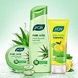 #6: Joy Pure Aloe Multi Benefit Body Lotion-300ml + Joy Pure Aloe Multi Benefit Skin Cream-200ml + Joy Skin Fruits Brightening (Lemon) Face Wash 100ml, Combo Pack
