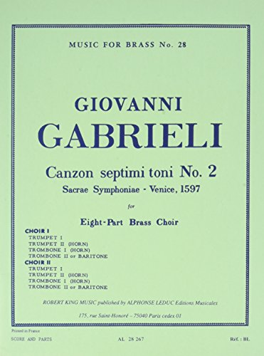 CANZON SEPTIMI TONI N02 BRASS OCTET/SCORE AND PARTS(PTION/PTIES) MFB028