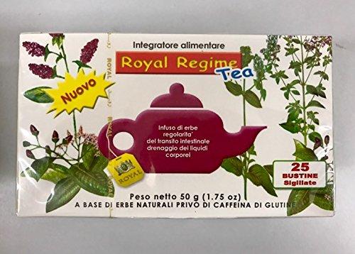 royal regime tea  ROYAL REGIME TEA 25 buste filtro Infuso di erbe per la regolarità ...