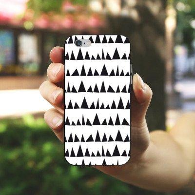 Apple iPhone X Silikon Hülle Case Schutzhülle Schwarz Weiß Muster Dreieck Silikon Case schwarz / weiß