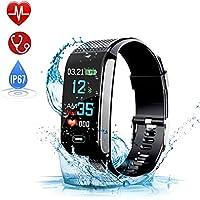 Montre Connectée, Bracelet Connectée Podometre Smartwatch avec GPS Écran Couleur Etanche IP67 Tension Artérielle Cardiofréquencemètre Fitness Tracker d'Activité Cardio Sport pour Enfants Femmes Hommes